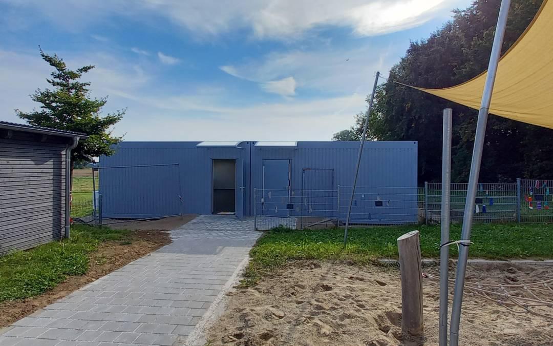 Das Kinderhaus Bunte Raupe in Röhrmoos freut sich über die tolle neue Erweiterung